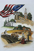 Betsy Ross Paintings - Liberty Rising by Joan Garcia