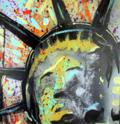 Lady Liberty Mixed Media Prints - Liberty Print by Robert Wolverton Jr