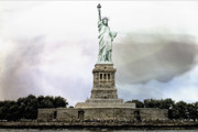 Liberty Island Framed Prints - Liberty Framed Print by Susan Stone