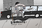 News Mixed Media - Liborgate Bankers Blues by OptionsClick BlogArt