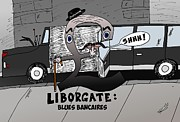 News Mixed Media - Liborgate Blues Bancaires by OptionsClick BlogArt