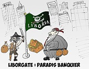News Mixed Media - Liborgate Liboria en caricature by OptionsClick BlogArt