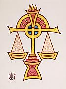 Celtic Knotwork Posters - Libra Poster by Ian Herriott