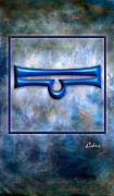 Abstract Digital Art Pyrography - Libra  by Mauro Celotti