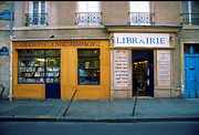 Paris Digital Art Prints - Librairie Print by John Galbo