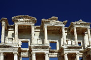 Upper Level Close-up Framed Prints - Library of Celsus in Ephesus Framed Print by Sally Weigand