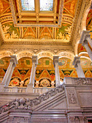 Library Of Congress Framed Prints - Library of Congress II Framed Print by Steven Ainsworth
