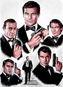 Sean Connery Prints - Licence to kill  Digital Print by Andrew Read