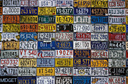 Tags Framed Prints - License plates Framed Print by Garry Gay