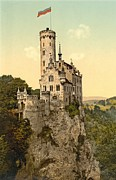 Lichtenstein Prints Posters - Lichtenstein Castle Poster by Padre Art