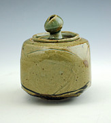 Carved Ceramics - Lidded Figure 10 by Alejandro Sanchez