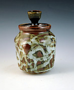 Wheel Thrown Ceramics - Lidded Figure Number 18 by Alejandro Sanchez