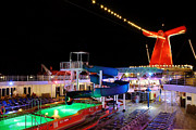 Eateries Prints - Lido Deck at Night Print by Jason Politte