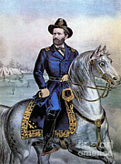 U S Grant Posters - Lieutenant General Ulysses S. Grant Poster by Photo Researchers