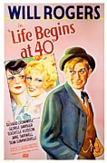 Thd Framed Prints - Life Begins At Forty, Will Rogers, 1935 Framed Print by Everett
