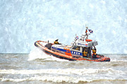 Coastguard Photo Originals - Life Boat by Bill Kret