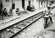 The Ghetto Prints - Life By The Tracks In Hanoi Print by Shaun Higson