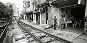 The Ghetto Prints - Life By The Tracks In Old Hanoi Print by Shaun Higson