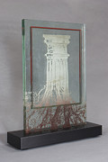 Architecture Glass Art Originals - Life Column by Keith Garubba