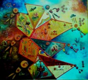 Basic Paintings - Life Cycle 1 by Ray Khalife