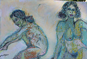 Reward Mixed Media Prints - Life Drawing  1 Print by Noredin Morgan