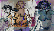 Reward Mixed Media Prints - Life Drawing 3 Print by Noredin Morgan