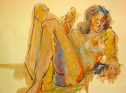 Drawing Painting Originals - Life Drawing Ten by Les Leffingwell