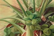 Plants Painting Prints - Life Force Print by Mary Lucas Faustine - Printscapes
