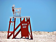 Rescue Framed Prints - Life Guard Stand Framed Print by Carolyn Marshall
