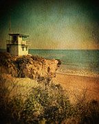 Life Guard Prints - Life Guard Station Malibu Print by Jill Battaglia