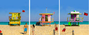 Bauhaus Photo Prints - Life Guards at the Beach Print by Brett Wexler
