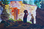 Ranchers Paintings - Life in Mexico by Bill Joseph  Markowski