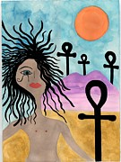 Just Painting Originals - Life in the desert girl by Alexandria Taylor