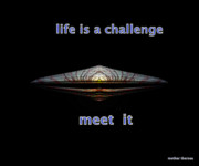 Advise Prints - Life Is A Challenge Print by Irma BACKELANT GALLERIES