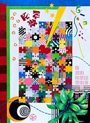 Abstract Expressionist Posters - Life Is a Puzzle Poster by Thomas Gronowski