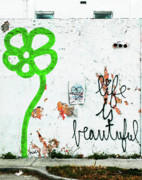 Arte Urbano Posters - Life is Beautiful Poster by Anahi DeCanio