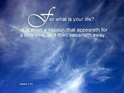 Cindy Wright Photos - Life is But a Vapour by Cindy Wright