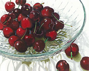 Cherries Paintings - Life is Just a - - - by Barbara Jewell