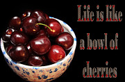 Cherry Art Framed Prints - Life Is Like A Bowl Of Cherries 2  Framed Print by Andee Photography