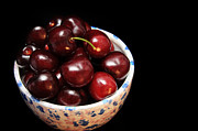 Fresh Produce Prints - Life Is Like A Bowl Of Cherries  Print by Andee Photography