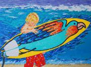 Surfing Art Paintings - Life Is Living Your Dreams by Ralph Mantia Sr