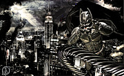 Gotham City Prints - Life Line Print by The DigArtisT