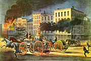Currier And Ives Paintings - Life of a Fireman by Currier and Ives by Pg Reproductions