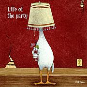 Party Paintings - Life of the party... by Will Bullas