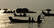 Travel Photography Prints - Life On Lake Tonel Sap Print by Bob Christopher