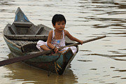 Travel Photography Prints - Life On Lake Tonle Sap 2 Print by Bob Christopher
