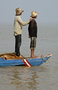 Travel Photography Prints - Life On Lake Tonle Sap 4 Print by Bob Christopher