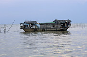 Travel Photography Prints - Life On Lake Tonle Sap 6 Print by Bob Christopher
