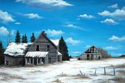 Barn Paintings - Life Once Lived Here by Marc Doiron
