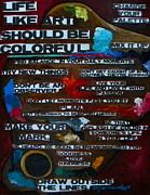 Life Should Be Colorful Print by Patti Schermerhorn